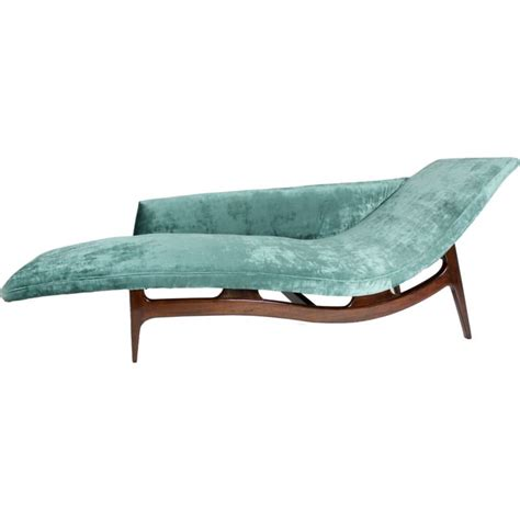 chaise longue in mahogany chaise longue in turquoise silk velvet at 1stdibs