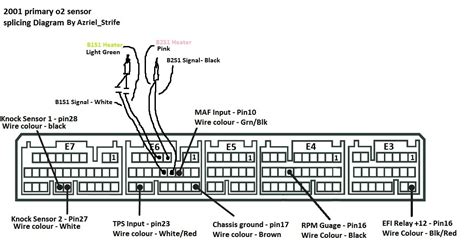 how to splice 2001 primary o2 sensors with diagram pinout lexus is