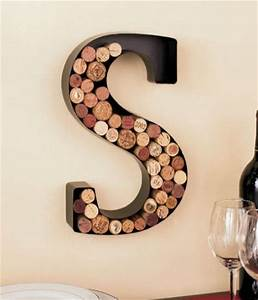 monogram letter s wall wine cork holder in black metal With personalized letter c metal wall wine cork holder