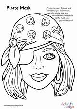 Pirate Mask Colouring Pages Pirates Activityvillage Masks Colour Activities Gruesome Member Woman Become Log sketch template