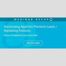 Maximizing Appfolio Premium Leads