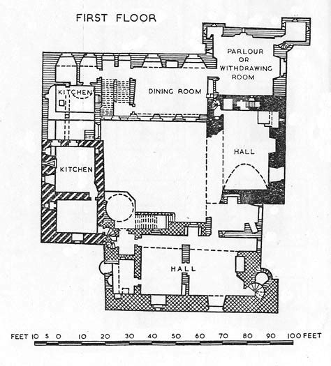 tudor mansion floor plans walls as rooms castles and louis khan socks