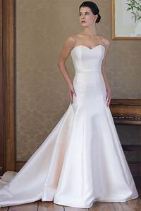 classic fit and flare wedding dress kleinfeld bridal With satin fit and flare wedding dress