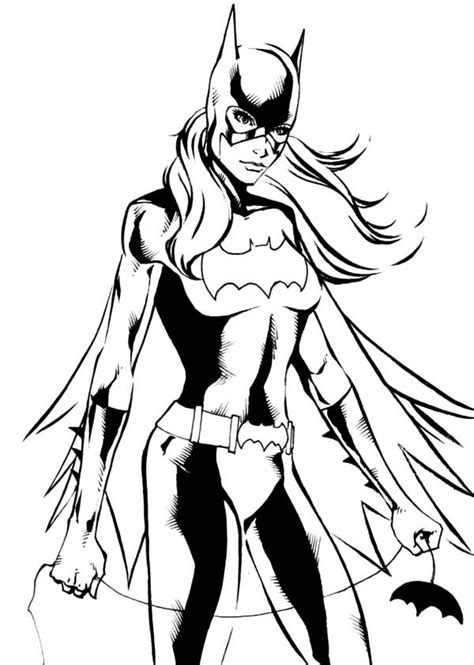 batgirl coloring pages    print