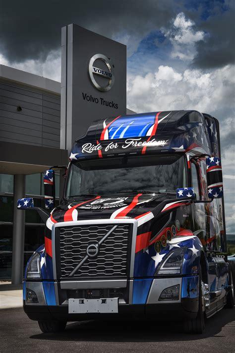 volvo tribute trucks honor military heroes  memorial