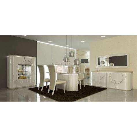 ensemble table chaises cuisine salle à manger complète contemporaine laque brillante