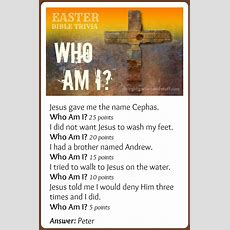Easter Bible Trivia Game Who Am I?