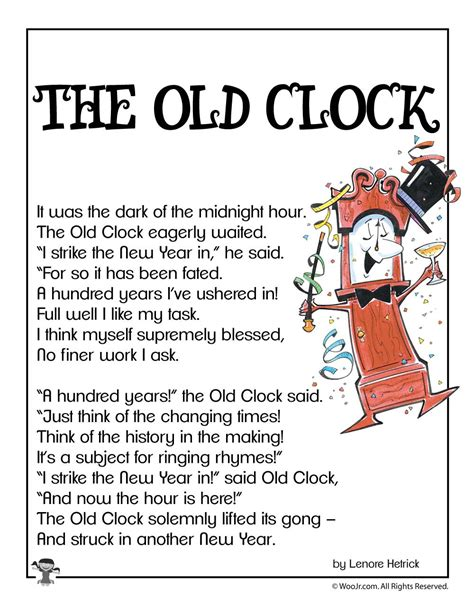 clock  years poem  kids woo jr kids