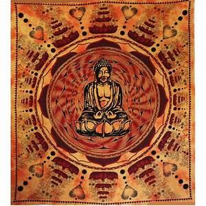 Grande Tenture Murale QuotBouddha Lotusquot Sur