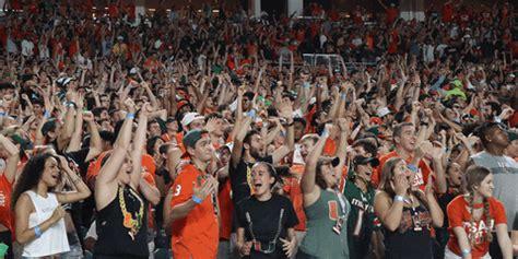 college football gif  miami hurricanes find share