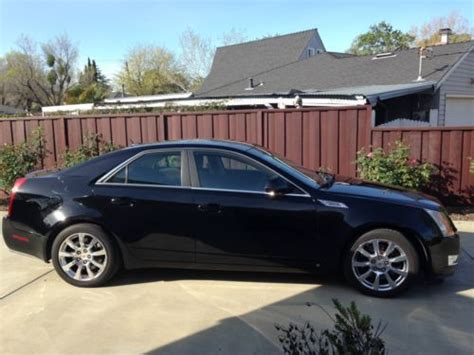 purchase   cadillac cts  awd high feature black