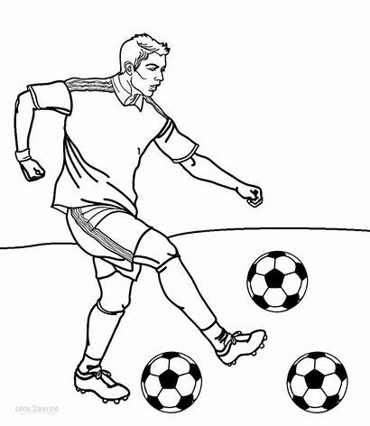 Coloring Football Player Printable Cool2bkids