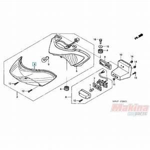 33702kph971 Rear Taillight Lens Honda Anf