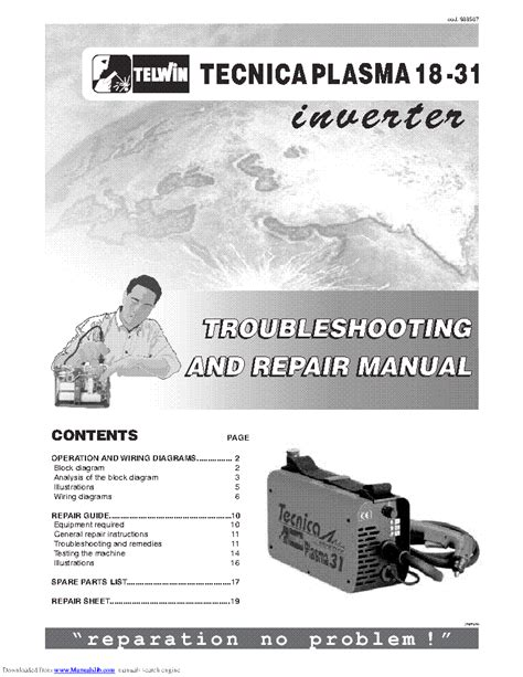 telwin 140 welding machine service manual schematics eeprom repair info for