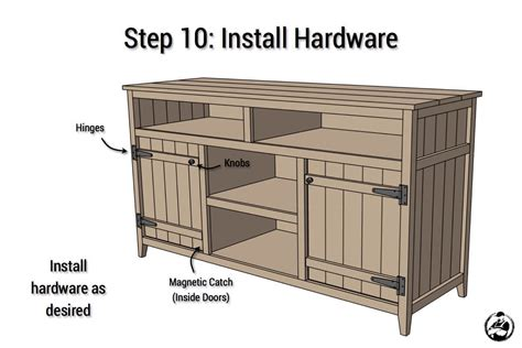 Media Cabinet Plans by Rustic Media Center Free Diy Plans Rogue Engineer