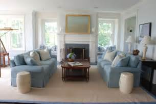 Cape Cod Style Home Decorating Living Room
