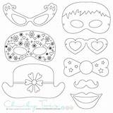 Booth Props Colouring Coloring Rainy Masks Paper Templates Activities Selz Crafts sketch template