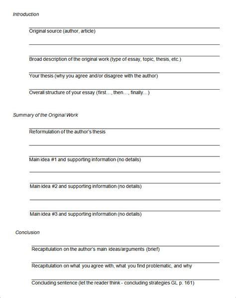 essay outline template essay outline template 4 free sle exle format free premium templates
