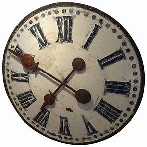Large Industrial Antique French Clock Face at 1stdibs