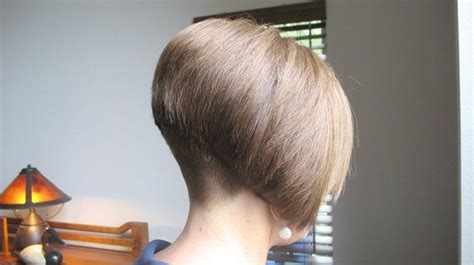 Short Bob Haircut Buzzed Nape