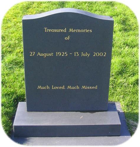 ogee top headstones at craven arms memorials