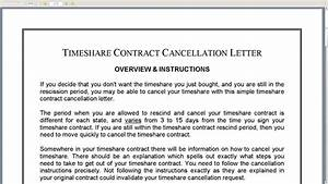Timeshare contract cancellation letter youtube for Letter to cancel timeshare after rescission period
