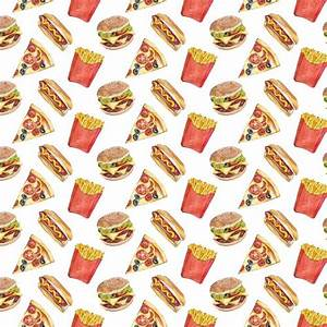 Pizza, Burguer and French Fries Pattern | Patterns ...