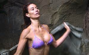 Melanie Sykes strips down for another bikini bathing ...