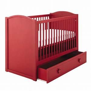 Maison Du Monde Lit Bebe : lit b b barreaux rouge l 126 cm circus maisons du monde ~ Zukunftsfamilie.com Idées de Décoration