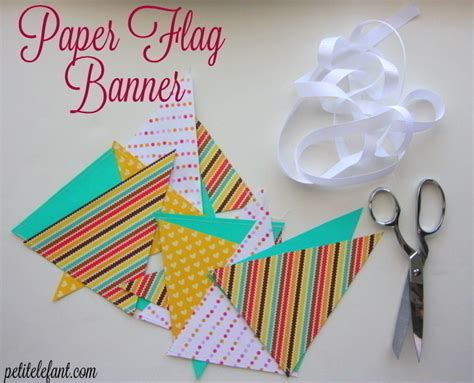 paper flag bunting    bunting