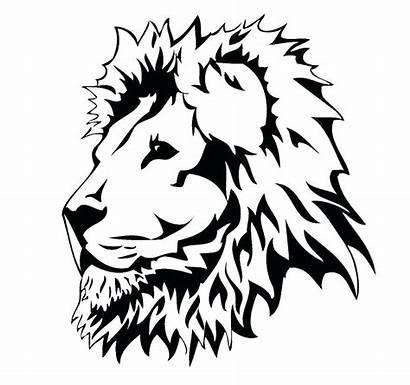 Lion Coloring Head Face Clipart Cliparts Clip