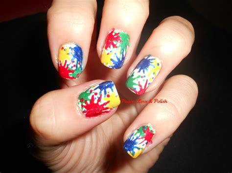 Splatter Nail Art And Top Nail Art Designs