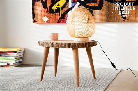 table basse plateau tronc d arbre