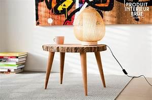 Table Basse Tronc : table basse plateau tronc d 39 arbre ~ Teatrodelosmanantiales.com Idées de Décoration