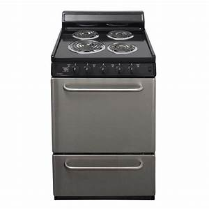 Premier 24 In  2 97 Cu  Ft  Electric Range In Stainless