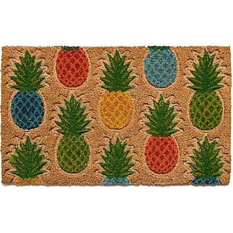 pineapple door mat pineapple pattern18 inch x 30 inch coir door mat bed