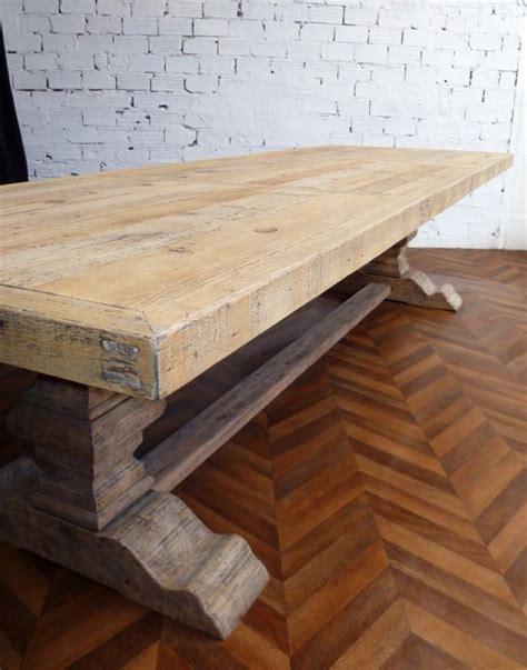 Grande Table De Ferme, Table Monastère, Ancienne, En Bois