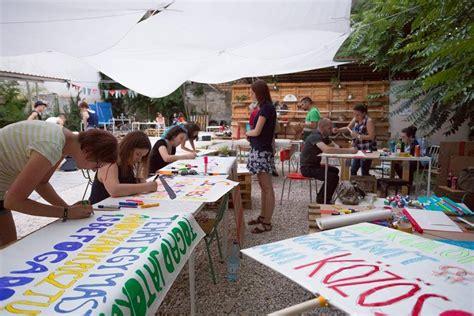 banner making workshop budapest pride