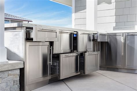 stainless steel outdoor kitchen cabinets michael outdoor kitchens best stainless steel