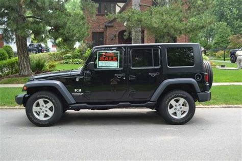 wrangler jeep 4 door black buy used 2008 black jeep wrangler 43 000 miles 4 door w