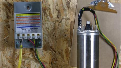 wire  franklin electric qd control box   hp