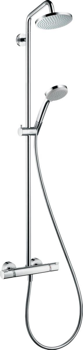 hansgrohe shower pipes croma 1 spray mode item no 27135000 hansgrohe uk