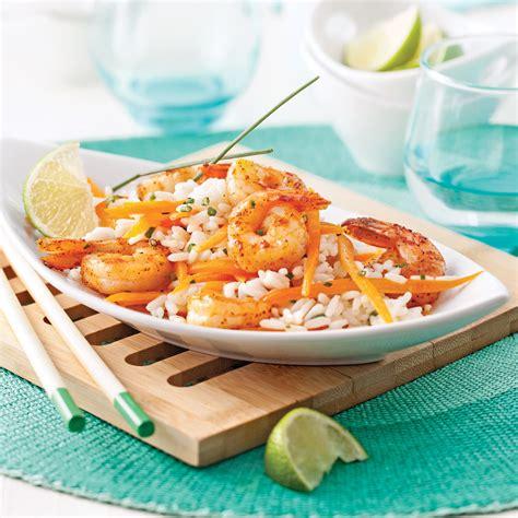 lait de coco cuisine salade repas aux crevettes riz et lait de coco recettes