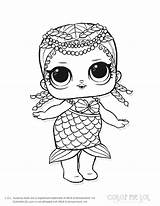 Coloring Lol Pages Doll Dolls sketch template