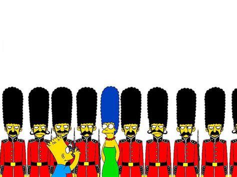 london cartoon wallpapers  simpsons london