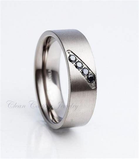 s black titanium ring titanium wedding band