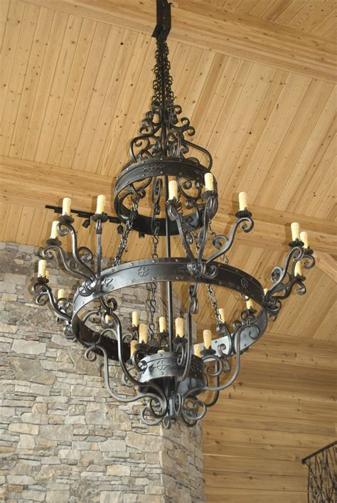 Oversized Chandeliers by Large Rustic Chandelier Eureka Ironworks Inc