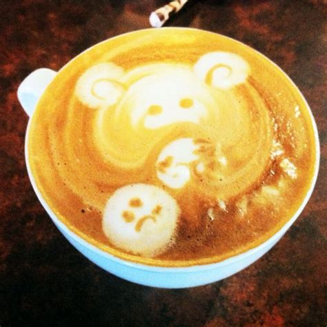 Place the meditative buddha on your wall and add a piece of tranquility and peace in your space. #coffee #art #milk #bear | Latte art, Coffee art