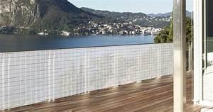 Toile Pour Terrasse : brise vue en toile pour balcon terrasse et jardin brique ~ Premium-room.com Idées de Décoration