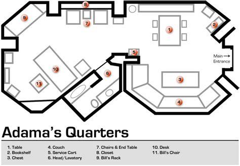 floorplan for my adama 39 s quarters floorplan by bsg75 deviantart com on